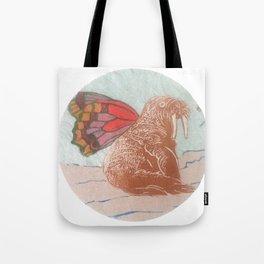 Winged Walrus Tote Bag