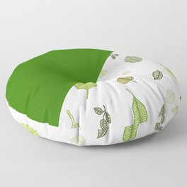 Green leaves Floor Pillow