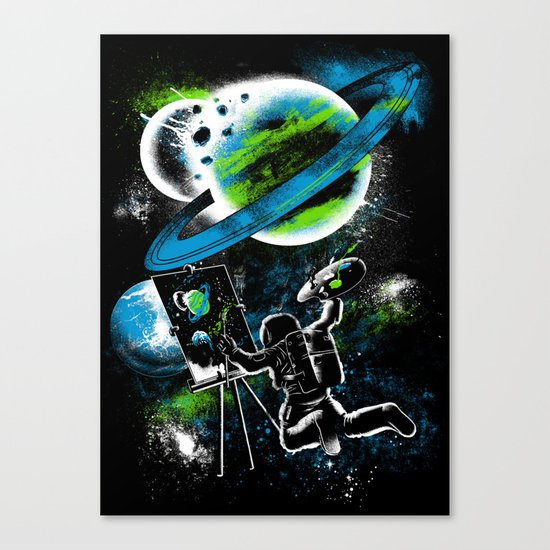space Painting Canvas Print