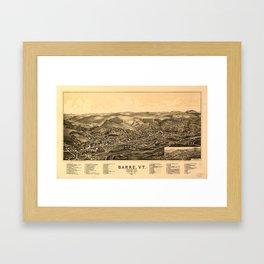 Barre, Vermont 1891 Framed Art Print