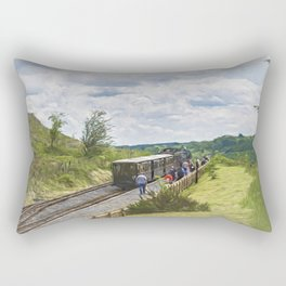 The Brecon Mountain Railway Rectangular Pillow