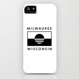 Milwaukee Wisconsin - White - People's Flag of Milwaukee iPhone Case