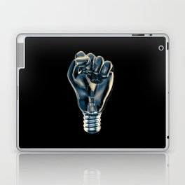 Protest fist light bulb / 3D render of glass light bulb in the form of clenched fist Laptop & iPad Skin