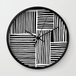 Crossed Lines II Wall Clock