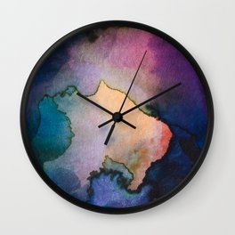 Color layers 3 Wall Clock