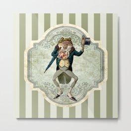 The Blind Date (Victorian Frog) Metal Print