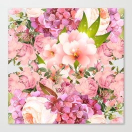 Natural Pink Flowers Canvas Print