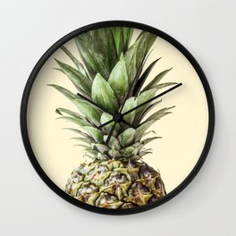 Pineapple Fruit Photography | Summer Happy Tropical Vibes | Art Wall Clock