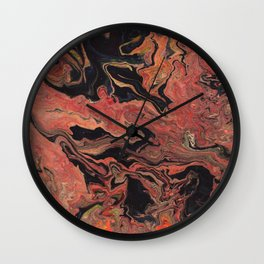 Abstract Oil Painting 8 Wall Clock