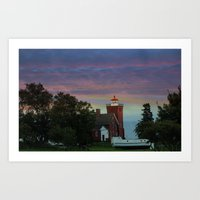 Two Harbors lighthouse Art Print