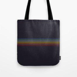 Thin Stripes Retro Colors Tote Bag