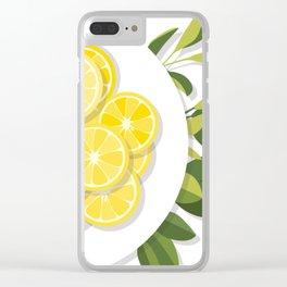 Citrus Plate Clear iPhone Case