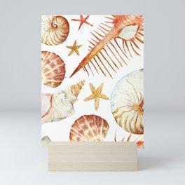 Sea Life Pattern 09 Mini Art Print
