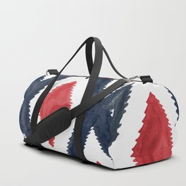 Del Rio Watercolor in Red and Blue Duffle Bag