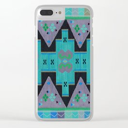 ethnic pattern 2 Clear iPhone Case
