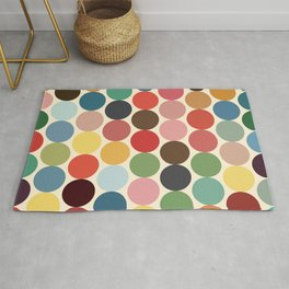Papuya - Abstract Colorful 70s Style Retro Dots Rug