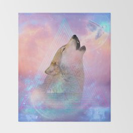 Dream By Day (Wolf Dreams - Remix Series) Throw Blanket