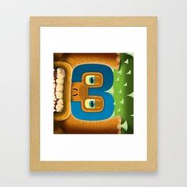 number 3 (1 of 9) Framed Art Print