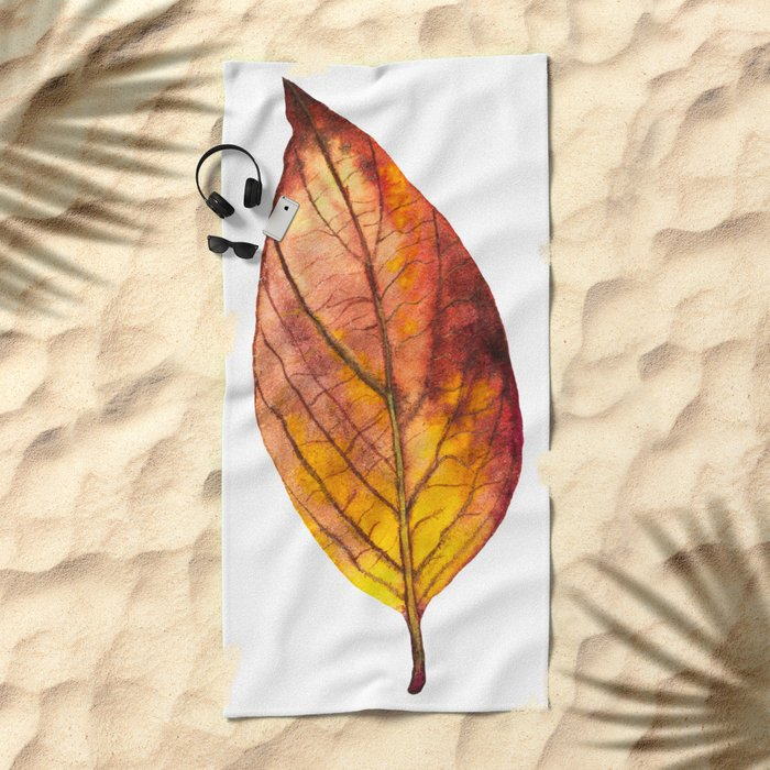 Autumn Leaf 03 Beach Towel