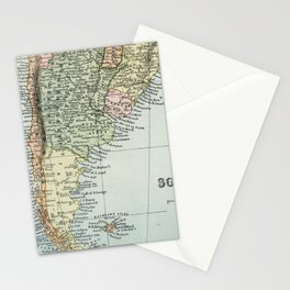 Vintage Map of the South of America Stationery Cards