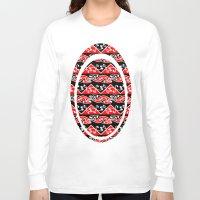 maori Long Sleeve T-shirts featuring Kowhaiwhai Traditional Maori Koru Pattern by mailboxdisco