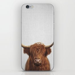 Highland Cow - Colorful iPhone Skin