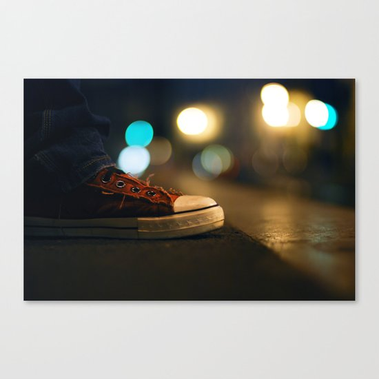Converse All Star Night Lights Canvas Print