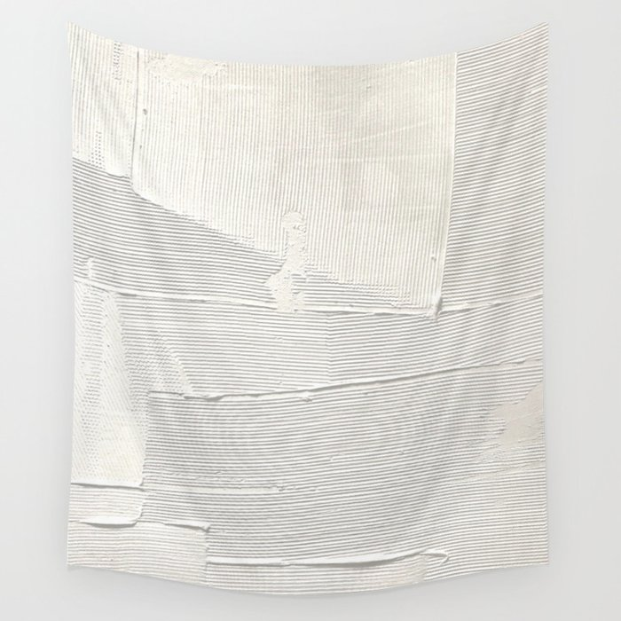 Relief [1]: an abstract, textured piece in white by Alyssa Hamilton Art Wandbehang