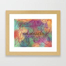 OK Boomer Swirl #word art Framed Art Print