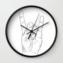 Rock On Devil Hand Wall Clock