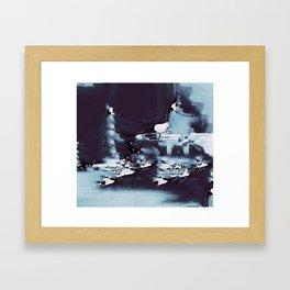 UNDERWATER ROCKS Framed Art Print