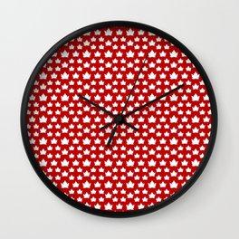 Cute Canada Flag Pattern Wall Clock