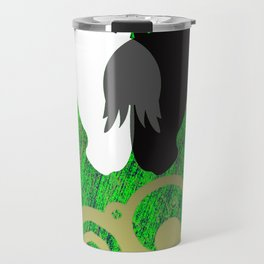 Yin And Yang Horses Poison Travel Mug
