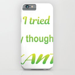 Thoughts Simple Kant Funny Philosophy Gift iPhone Case