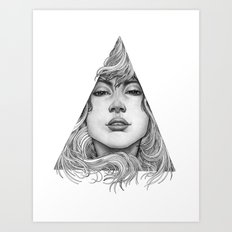 Triangle Portrait Art Print