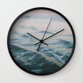 Blue Underneath Wall Clock