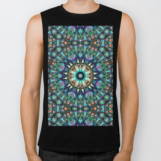 Stained Glass Abstract Biker Tank