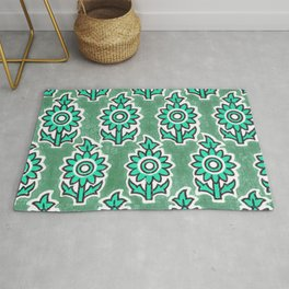 Indian Lucite Green Rug