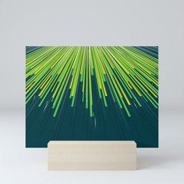 Perspective motion lines art Mini Art Print