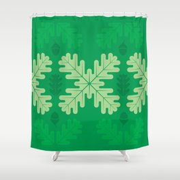 Oak Leaves in Summer – Green Shower Curtain