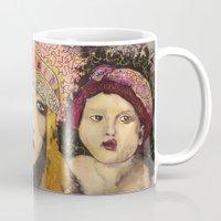 potato Mugs featuring Potato Eaters by Penelope Przekop