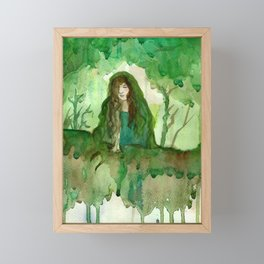 Akka The Earth Goddess Framed Mini Art Print
