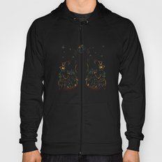 Two wolves howling Hoody