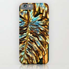 Golden Abstract 5 iPhone Case