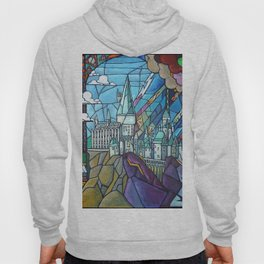 Hogwarts stained glass style Hoody