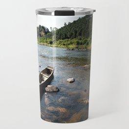 a alone boat Travel Mug