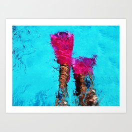 Shape of Water Art Print