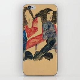 """Egon Schiele """"Zwei Mädchen (Two girls)"""" iPhone Skin"""