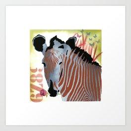 Funky Zebra Style No2 Art Print