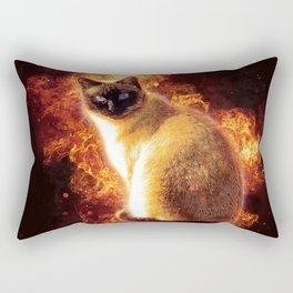 Flame Cat Rectangular Pillow